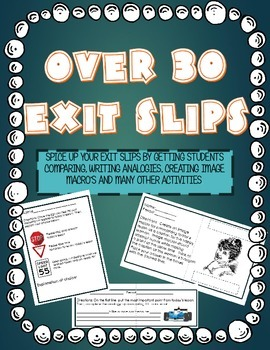 Exit Slips- Over 30 Formative Assessments for All Subjects