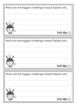 Exit Slips - Quick assessment and reflection strips