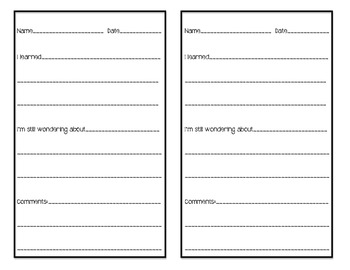 Exit Slips - Reflection on Learning