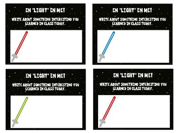 Exit Slips - Star Wars Inspired