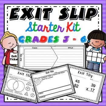 Exit Slips Starter Kit FREEBIE
