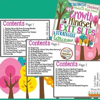 Exit Slips & Strategies Editable Semester Bundle - Middle & High Editable