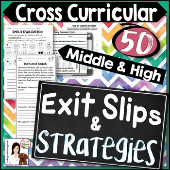 Exit Slips & Strategies Editable for Any Subject in Middle & High School
