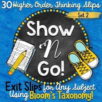 Exit Slips Using Bloom's Taxonomy - Set 2