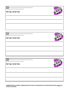 Exit Slips and Tickets Out - Formative Assessment Made Easy