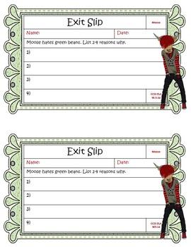 Exit Slips for 3rd Grade