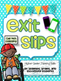 Exit Slips - Formative Assessment- for ANY grade!