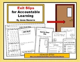 Exit Slips for Accountable Learning