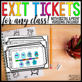 Exit Slips for Any Subject - Digital and Printable for Distance Learning