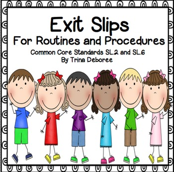 Back to School Exit Tickets for Routines and Procedures