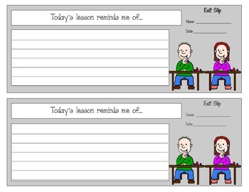 Exit Slips for EVERY lesson!