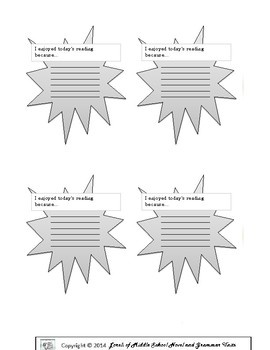 Exit Slips for English Language Arts
