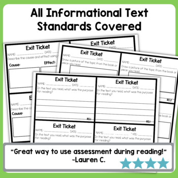 ELA {Informational} Exit Tickets for Second Grade