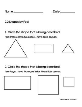 Exit Slips for Kindergarten-Everyday Math Unit 2