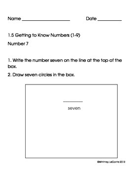 Exit Slips for Kindergarten-Everyday Math Units 1-8