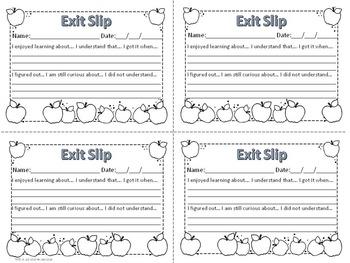 Exit Slips for Math & Language Arts