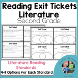 ELA {Literature} Exit Tickets for Second Grade
