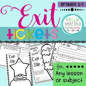 Exit Slips to Use with Almost Any Lesson or Subject