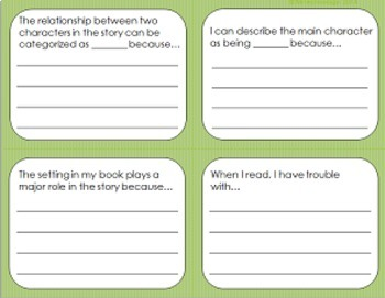 Exit Slips with Higher Level Thinking Prompts