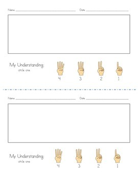 Exit Slips with a Marzano Scale for Student Understanding