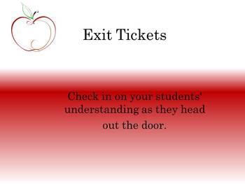 Exit Ticket 1