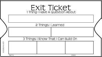 exit ticket 3 2 1 by for equal access teachers pay teachers. Black Bedroom Furniture Sets. Home Design Ideas