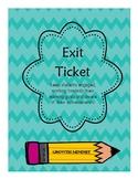 Exit Ticket