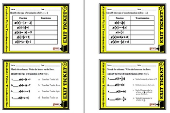 Exit Ticket - Absolute Value Transformation