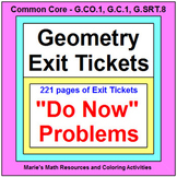 GEOMETRY:  EXIT / ENTRANCE TICKETS - BUNDLE (232 PAGES OF PROBLEMS)
