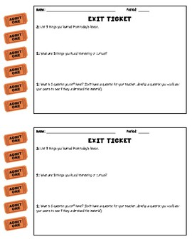 Exit Ticket: 3-2-1 Reflection