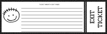 Exit Ticket (Black and White)