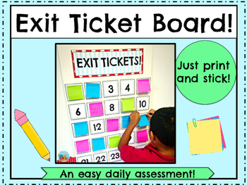 Exit Ticket Board