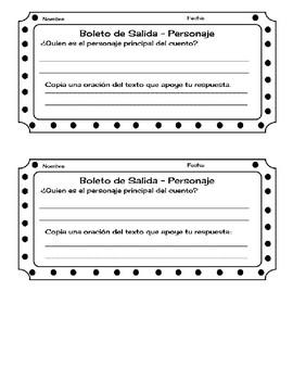 Exit Ticket/ Boleto de Salida para Personaje Principal Spanish