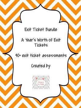 Exit Ticket Bundle! Grade 6