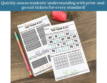 Exit Ticket Bundle Kindergarten