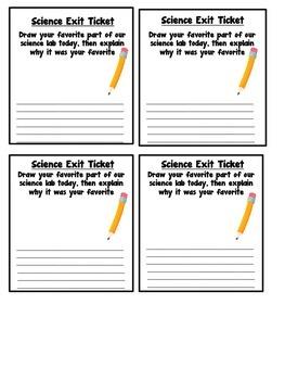 Science Exit Ticket Bundle