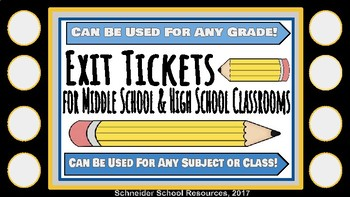 Exit Ticket Bundle for ANY SUBJECT!