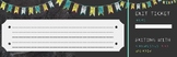Exit Ticket (Chalkboard Background with colorful flags)