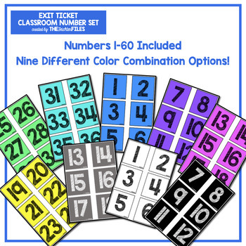 Exit Ticket Classroom Numbers