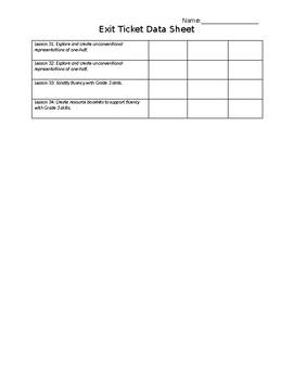 Exit Ticket Data Tracker Module 7 Third Grade (Engage NY)