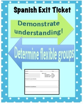 Exit Ticket - Differentiated Instruction