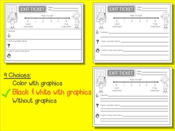 Exit Tickets with Number Lines (FREE)