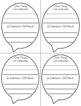 Exit Ticket (For Any Subject)