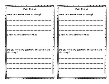 Exit Ticket - For Any Subject