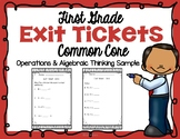 First Grade Exit Ticket | Doubles | Missing Parts