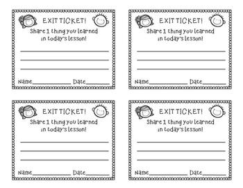Exit Ticket Freebie!