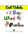 Exit Ticket Grade 3 - 2-Steps Word Problems