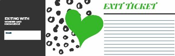 Exit Ticket (Green and Black Theme)