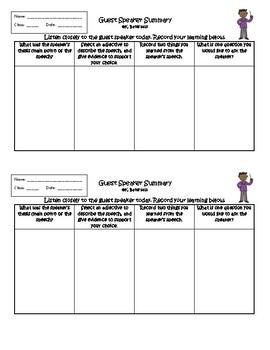 Guest Speaker Worksheets & Teaching Resources | Teachers Pay ...