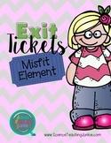 Exit Ticket (Exit Slip)- Misfit Element